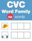 CVC Word Family -ap Word Family Workbooks and Games