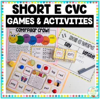 CVC Word Family 'e' Word Work & Games
