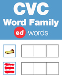 CVC Word Family -ed Word Family Workbooks and Games