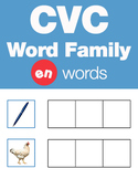 CVC Word Family -en Word Family Workbooks and Games