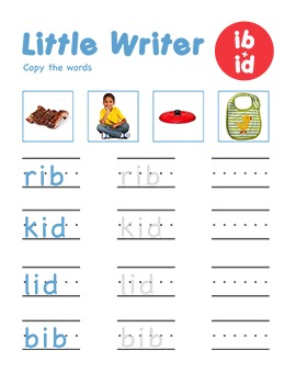 CVC Word Family -ib & -id Word Family Workbooks and Games