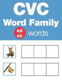 CVC Word Family -od & -ox Word Family Workbooks and Games