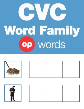CVC Word Family -op Word Family Workbooks and Games