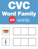 CVC Word Family -un Word Family Workbooks and Games