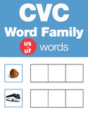CVC Word Family -ut & us Word Family Workbooks and Games