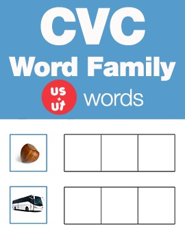 CVC Word Family -ut & us Word Family Workbooks and Games