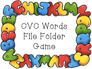 CVC Word File Folder Game