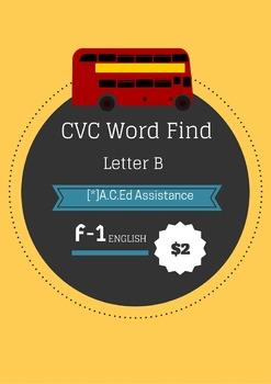 CVC Word Find - Letter B