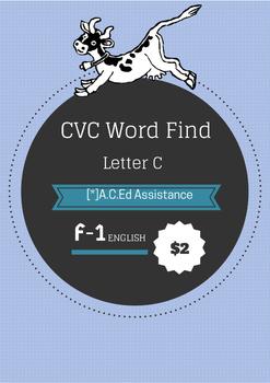 CVC Word Find - Letter C