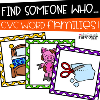 CVC Word Find Someone Who by Education and Inspiration