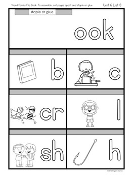 Word Pattern Flap Books