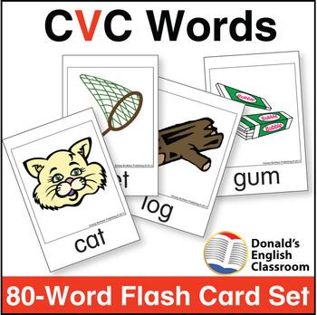 CVC Word Flash Card Set