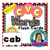 CVC Word Flash Cards - 212 Cards in Color and Black and Wh