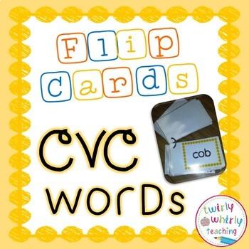CVC Word Flip Cards