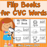 CVC Word Flip Books - Short Vowel Word Families