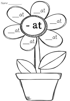 CVC Word Flowerpot Activity FREEBIE