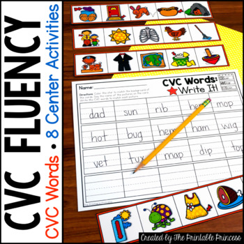 photo relating to Printable Reading Fluency Games referred to as CVC Fluency Actions