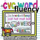 CVC Word Fluency Digital Interactive Slides
