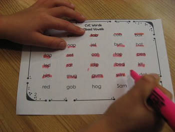 CVC Word Fluency Practice