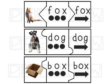 CVC Word Fluency Puzzles