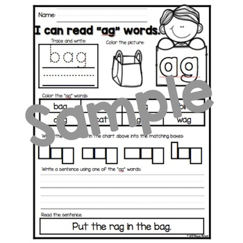 CVC Word Family Packet