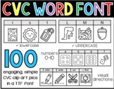 CVC Word Font - Phonics Clip Art TTF