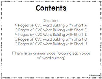 CVC Word Fun! {A challenge activity for building CVC words}