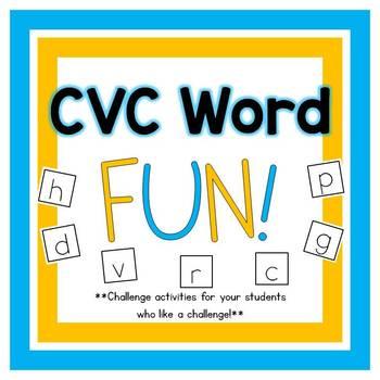 CVC Word Fun! {A challenge activity for building CVC words}