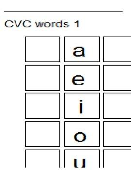 CVC Word Game