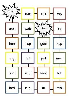 CVC Word Game Board