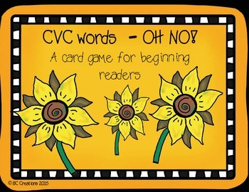 CVC Word Game - OH NO (short vowel word families)