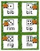 Phonics Game Short Vowel CVC Words with Pumpkin People