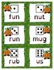 Phonics Game Short Vowel CVC Words Pumpkin People Highlighted Vowels