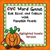 Phonics Game Short Vowel CVC Words Pumpkin People Highligh