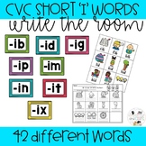 CVC Word Game Write the Room Short i