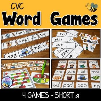 CVC Word Games Short a