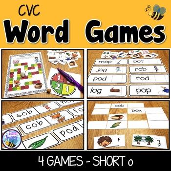 CVC Word Games Short o