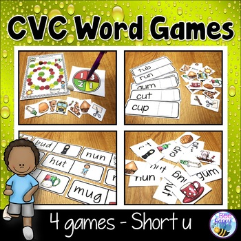 CVC Word Games Short u