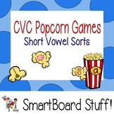 Popcorn CVC Vowel Sort for Smart Board