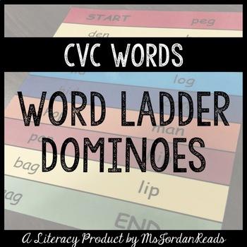 CVC Word Ladder Dominoes (Short Vowels)