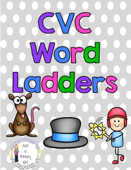 CVC Word Family Ladders - Word Work