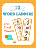 CVC Word Ladders Literacy Center