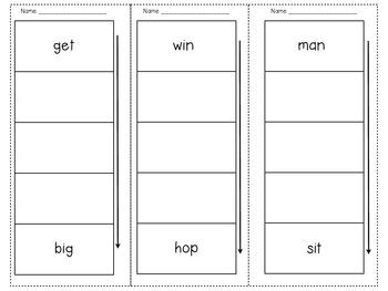 CVC Word Ladders by Amber Leslie | Teachers Pay Teachers