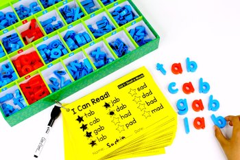 CVC Word List Cards