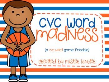 CVC Word Madness {Freebie}