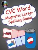 CVC Word - Magnetic Letter Task Cards