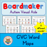 CVC Word Maps - Boardmaker Visual Aids for Autism SPED