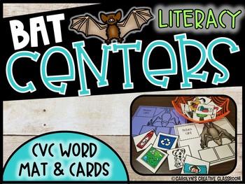 CVC Word Mat - Bat Themed