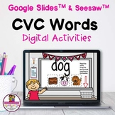 CVC Word Match Google & Seesaw Distance Learning
