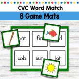 CVC Word Match Mats Reading Games